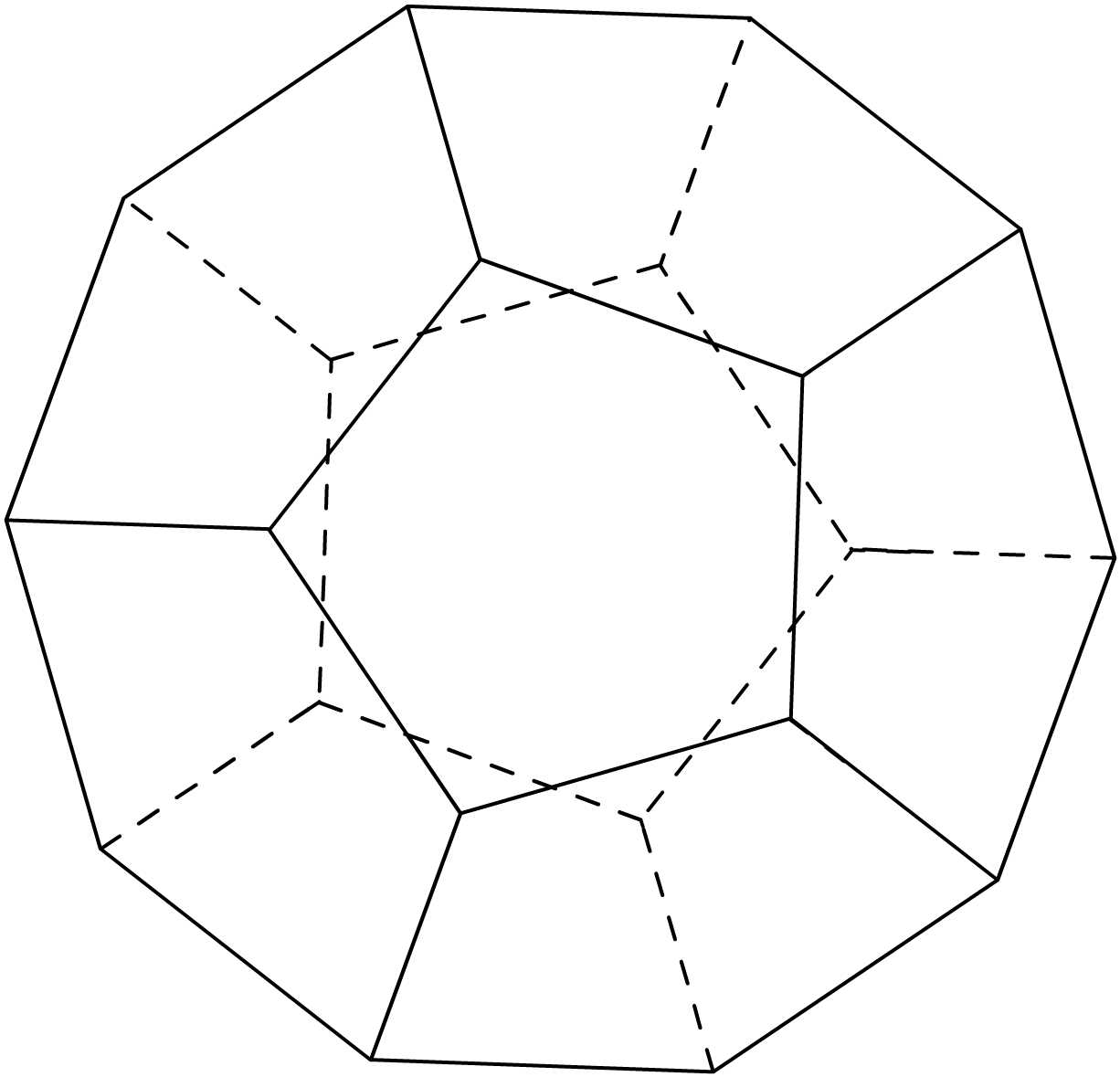 Dodecagon Shape 12 Sides As atoms are  in natural